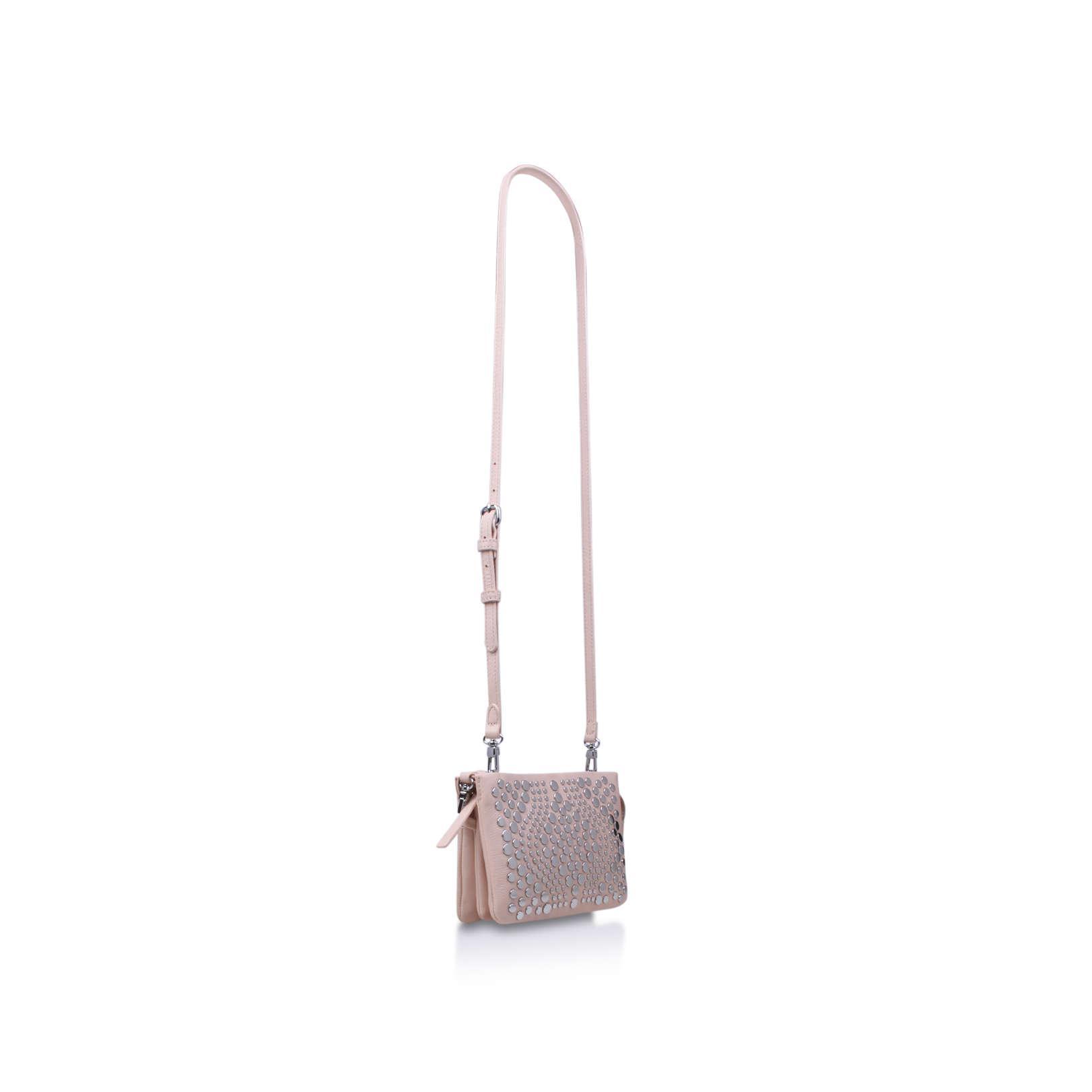 Vince Camuto Bonny Small Crossbody Pale Pink Leather Handbag