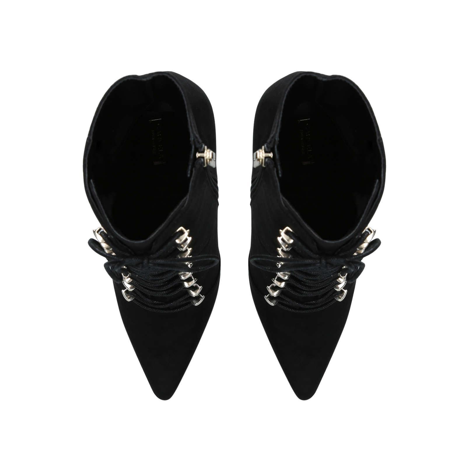Carvela Kurt Geiger Denim 'stephanie' Suedette Lace Up Ankle Boots in Black
