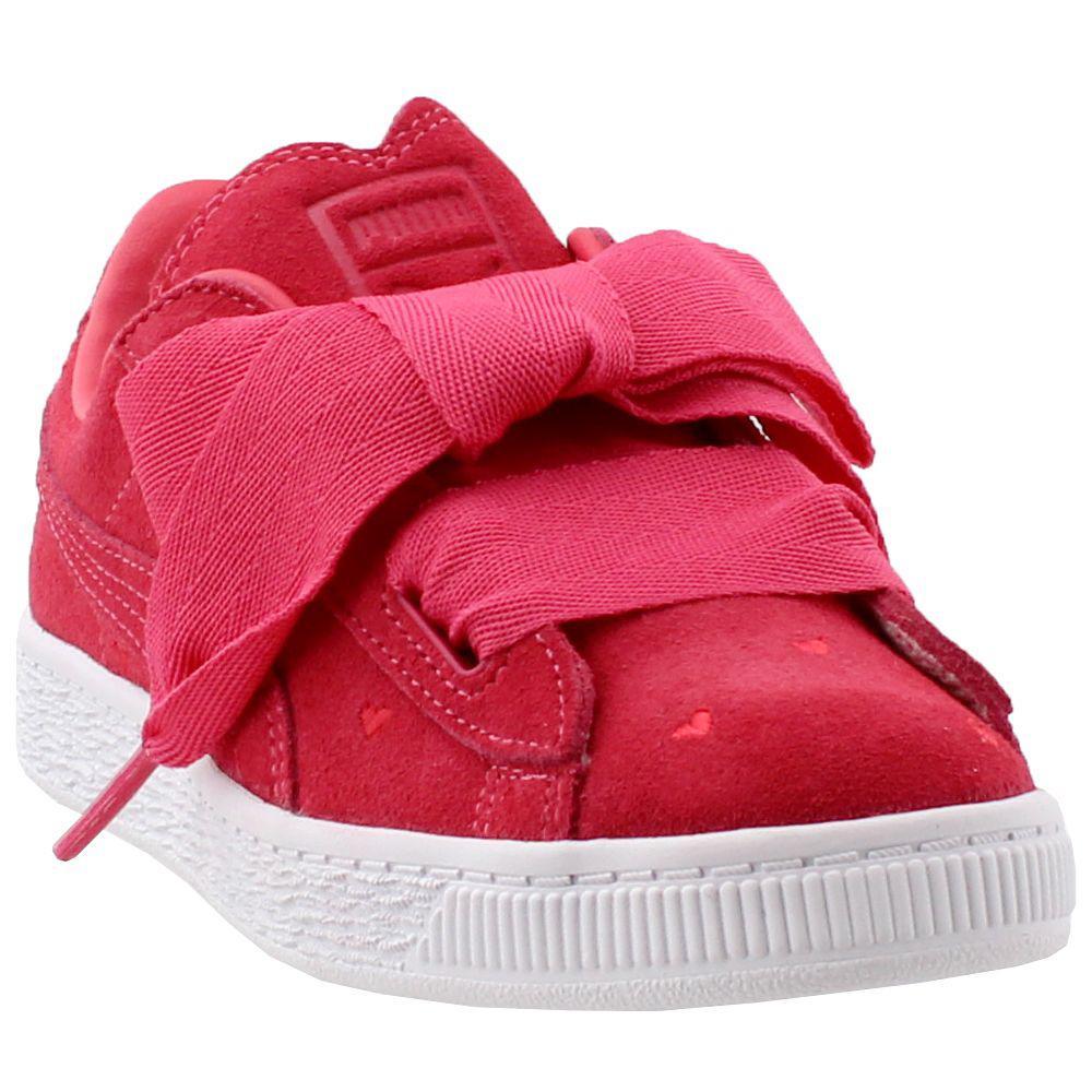 6149228e88d5 Lyst - PUMA Suede Heart Valentine Preschool in Pink