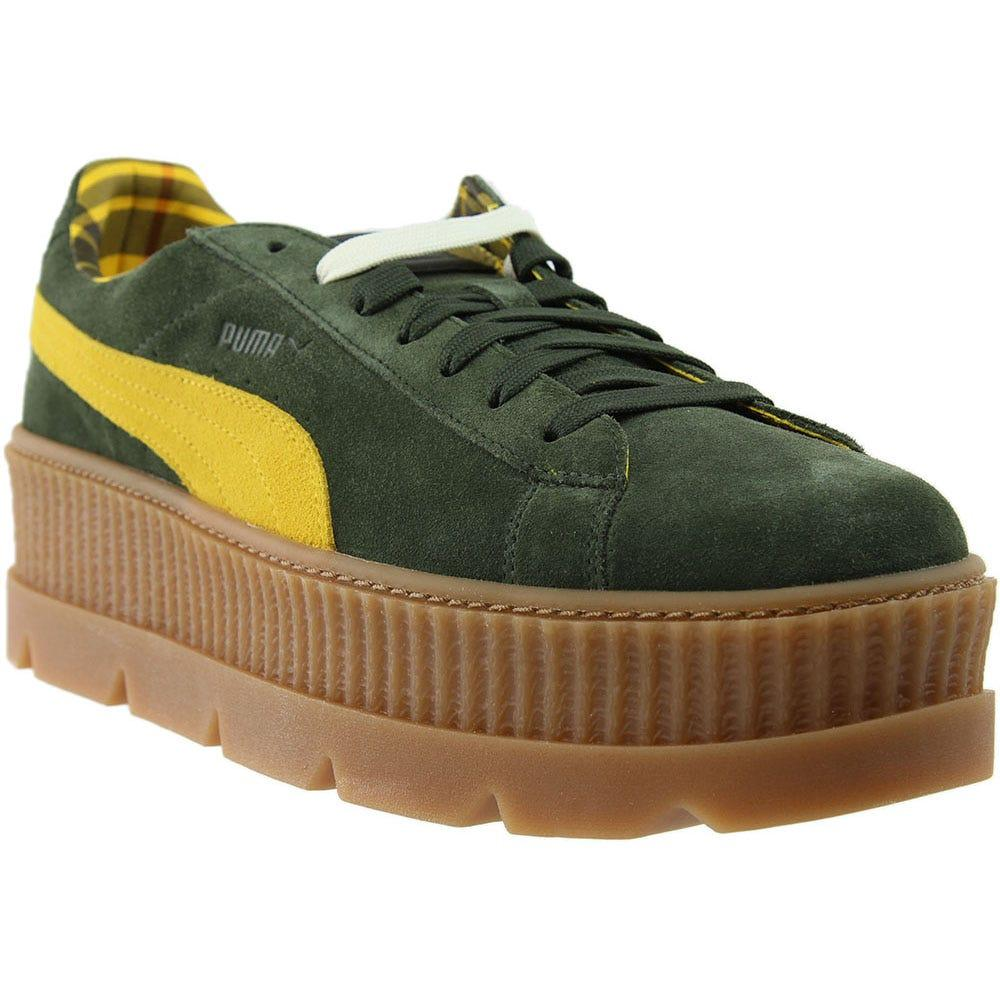 brand new b7891 15791 Men's Green Fenty By Rihanna Suede Cleated Creeper