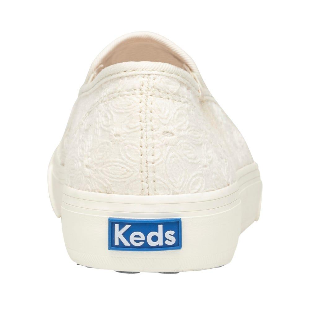 dcac254029b81 Keds White Double Decker Floral Eyelet