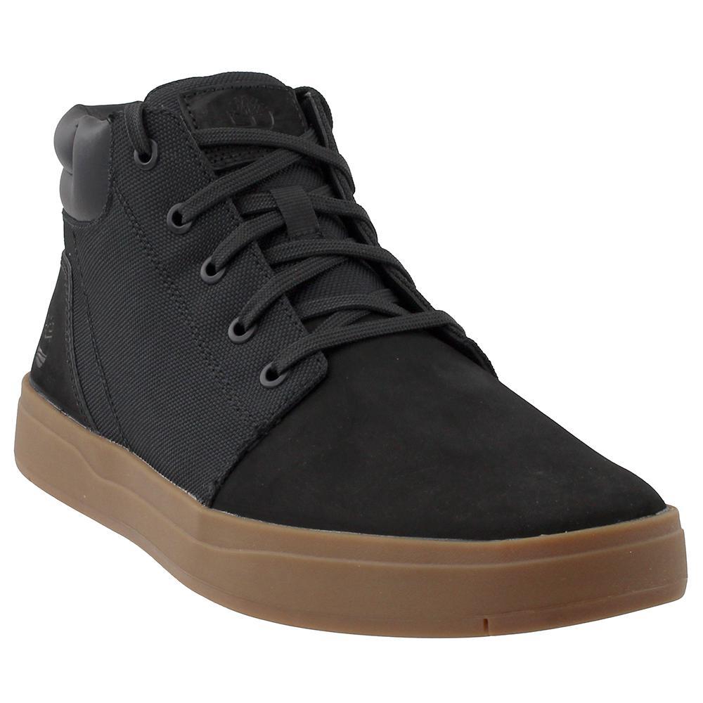010ad7db3c5 Timberland Black Davis Square Mixed-media Chukka Shoes for men