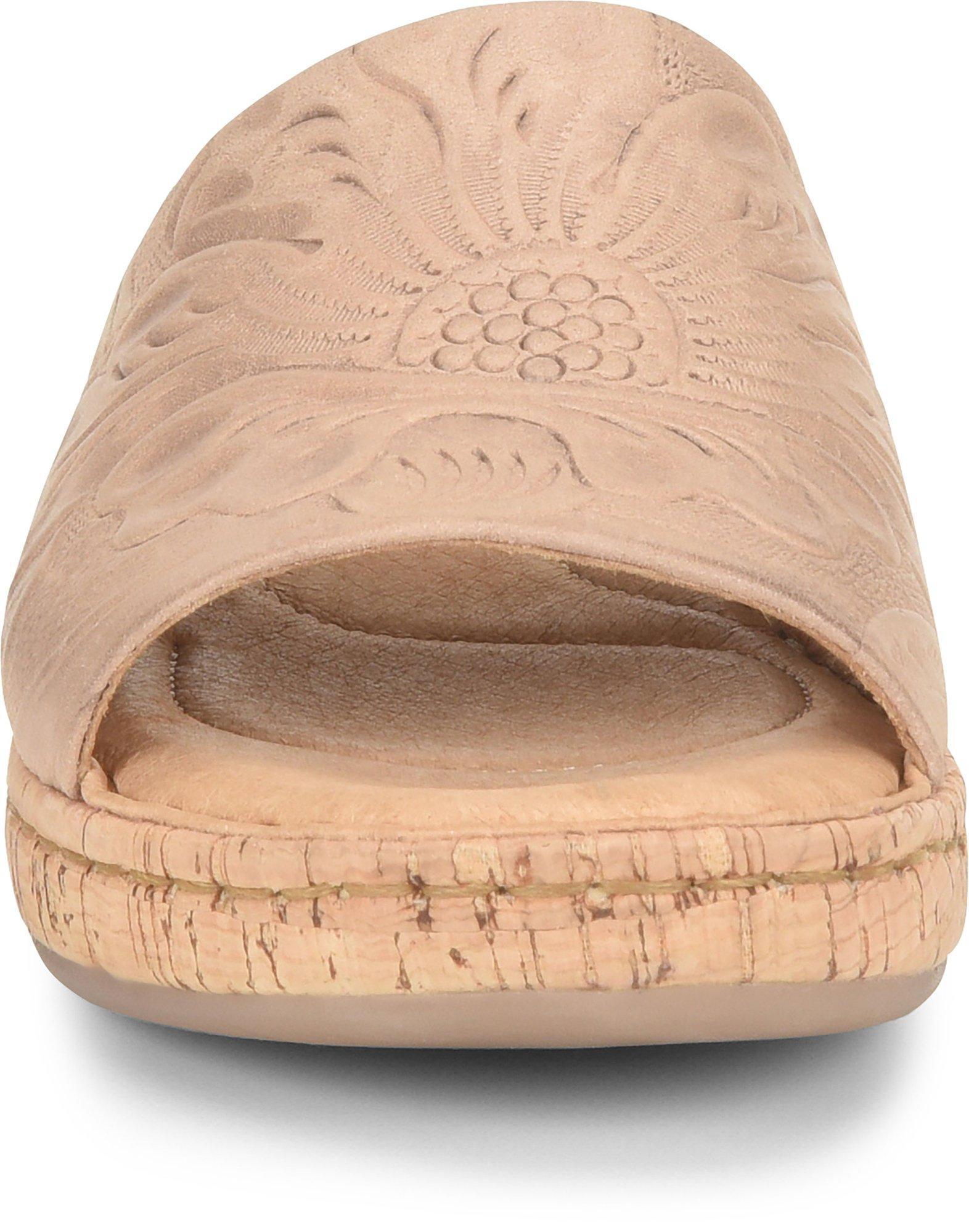Details about  /Born® Fishlake Embossed Leather Slide Sandal 649805-J