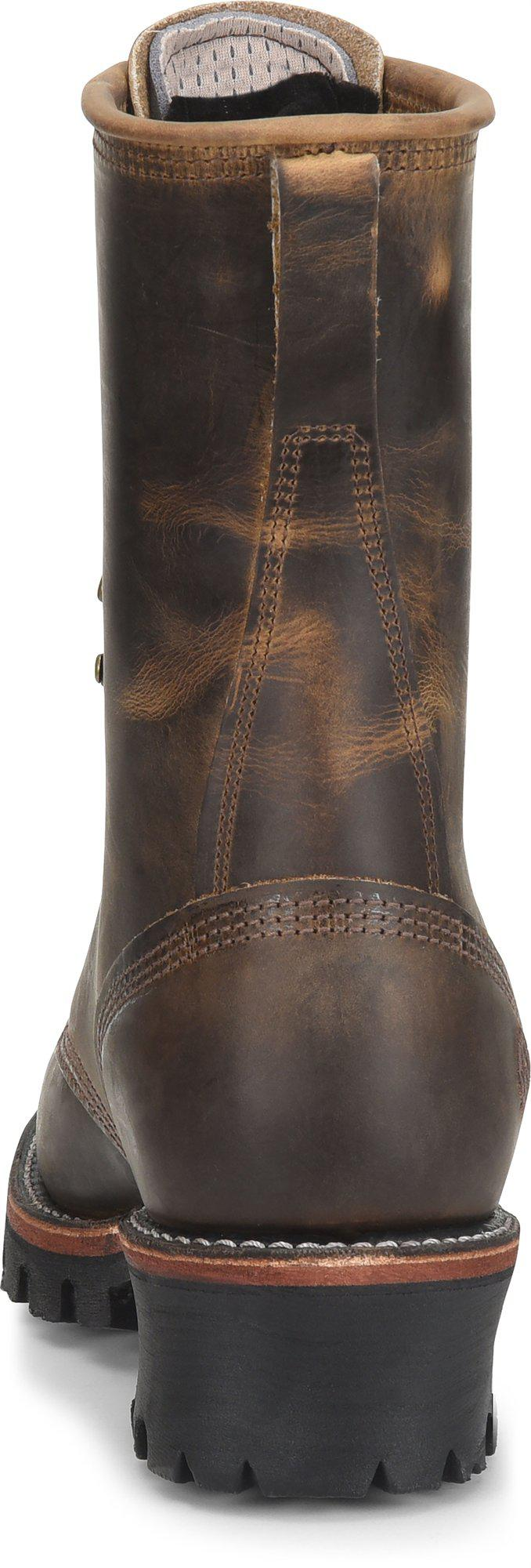7c02e30b62f Double H Boot 10 Inch Brown Leather Logger - Final Sale for men