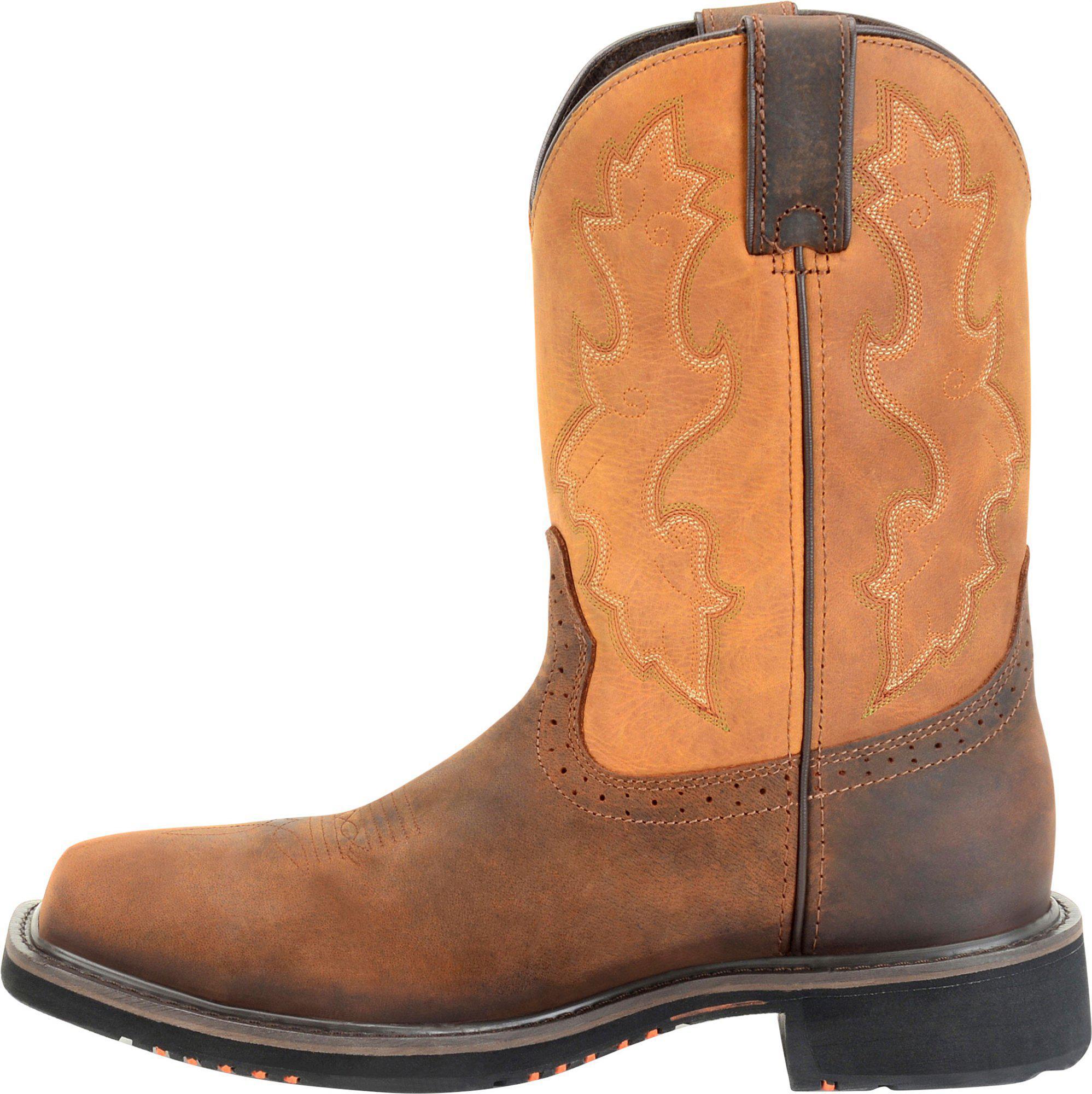 1d8174305e9 Men's Brown 11 Inch Wide Square Comp Toe Roper