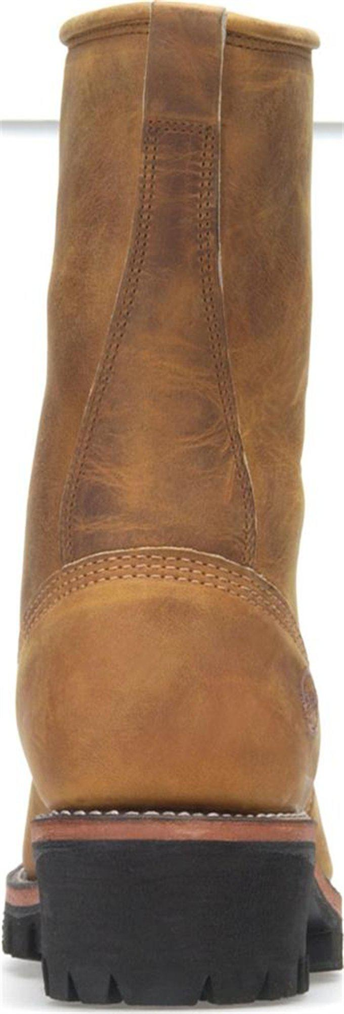 a271e5b5f86 Double H Boot Brown 10 Inch Logger for men