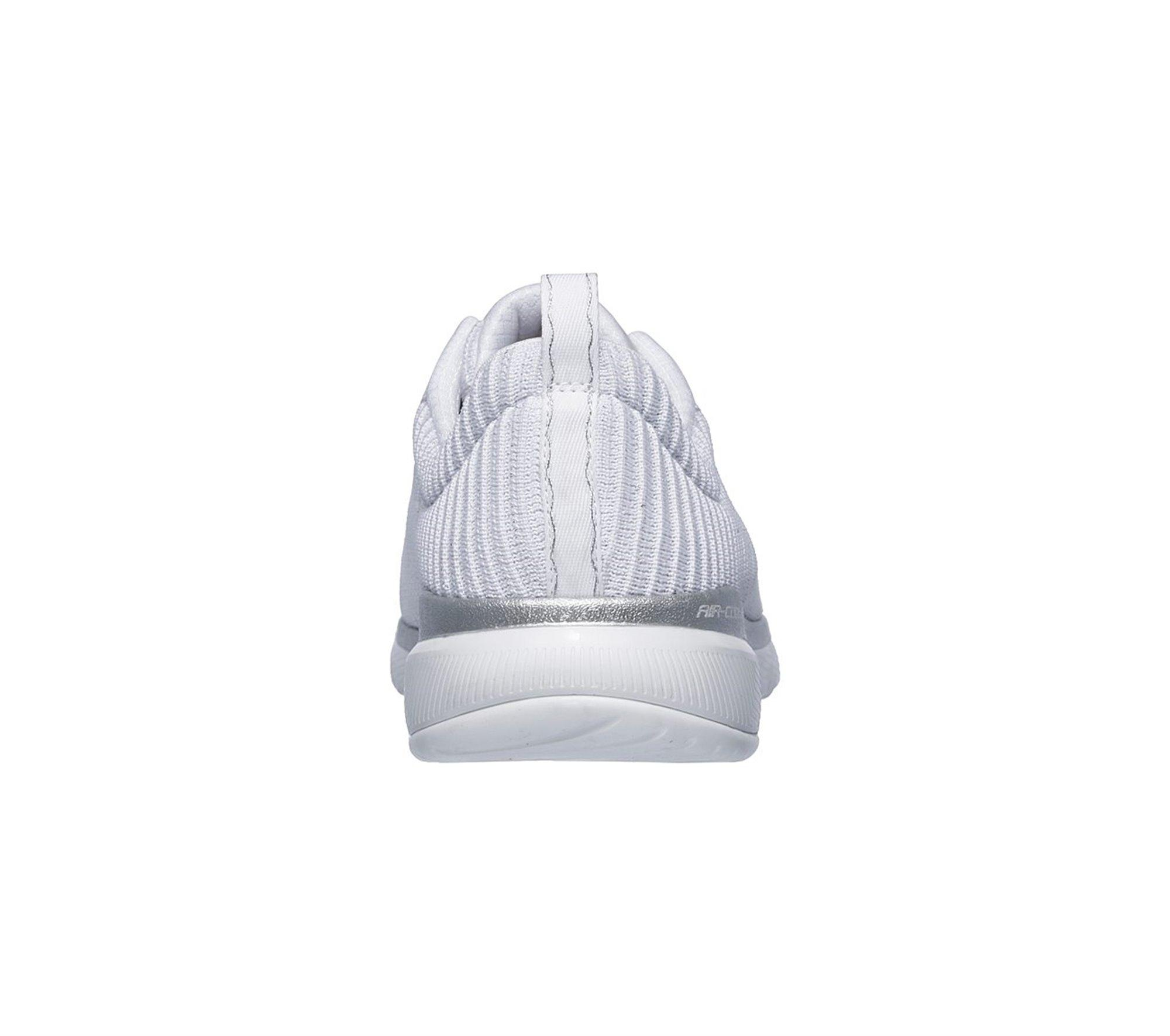 Resplandor Derecho Pigmalión  Skechers Synthetic Flex Appeal 3.0 Endless Glamour Sneaker in White/Silver  (White) - Lyst