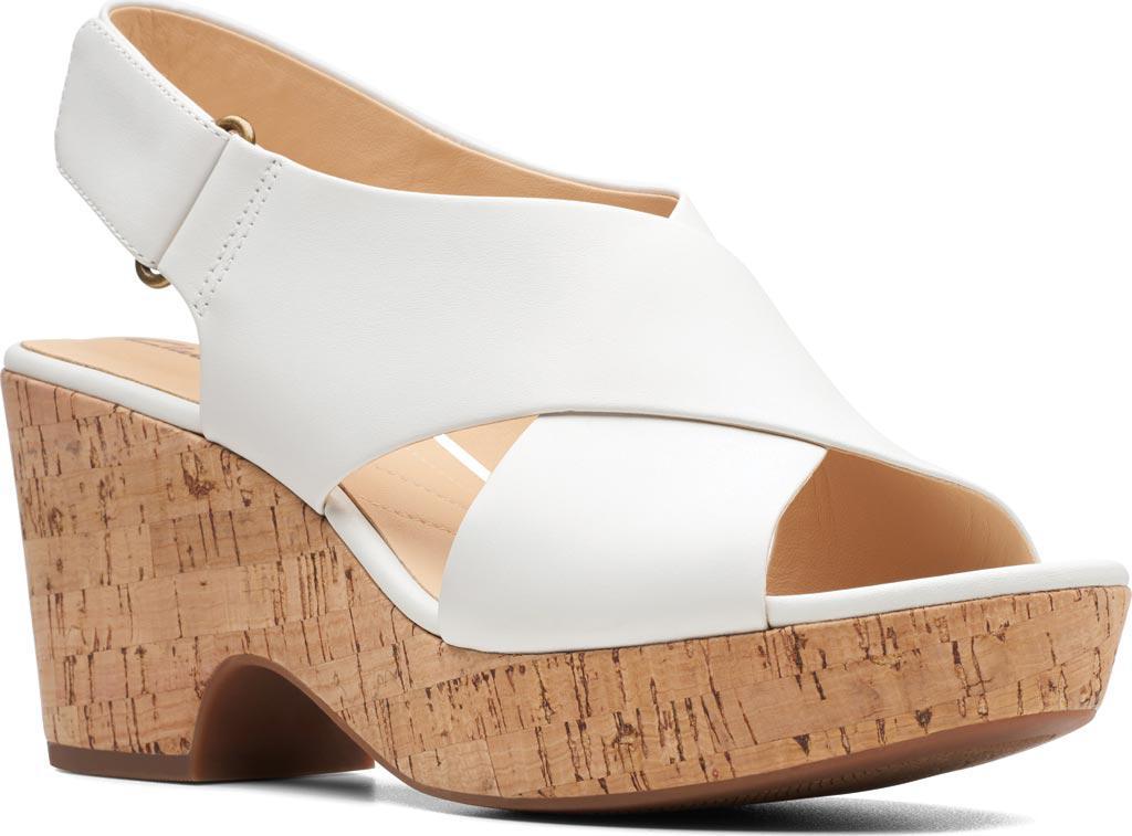 3fe02ba2fc6 Lyst - Clarks Maritsa Lara Platform Sandal in White