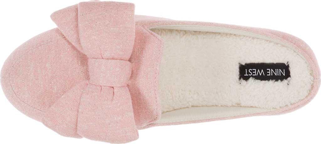 ccf757e2e57 Nine West - Pink Loafer Scuff Slipper With Bow And Terry Sock - Lyst. View  fullscreen