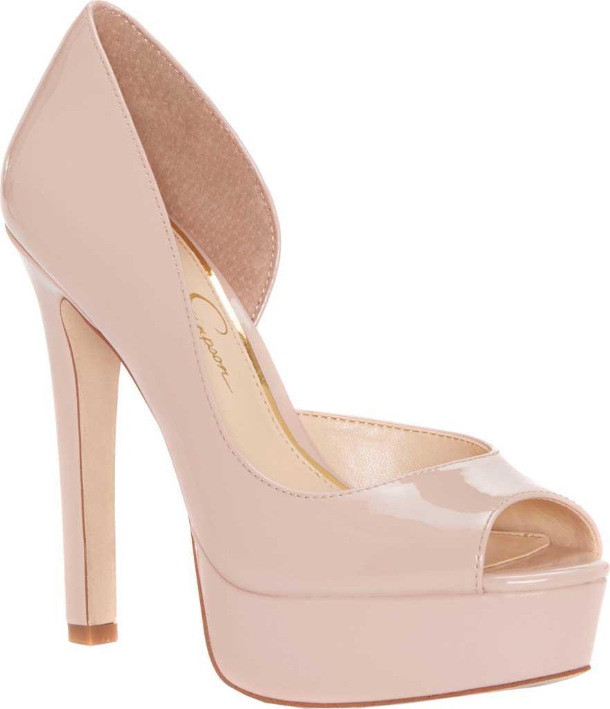 3691f8ecd403f0 Lyst jessica simpson martella peep toe platform pumps in natural jpg  881x1024 Jessica simpson tan heels