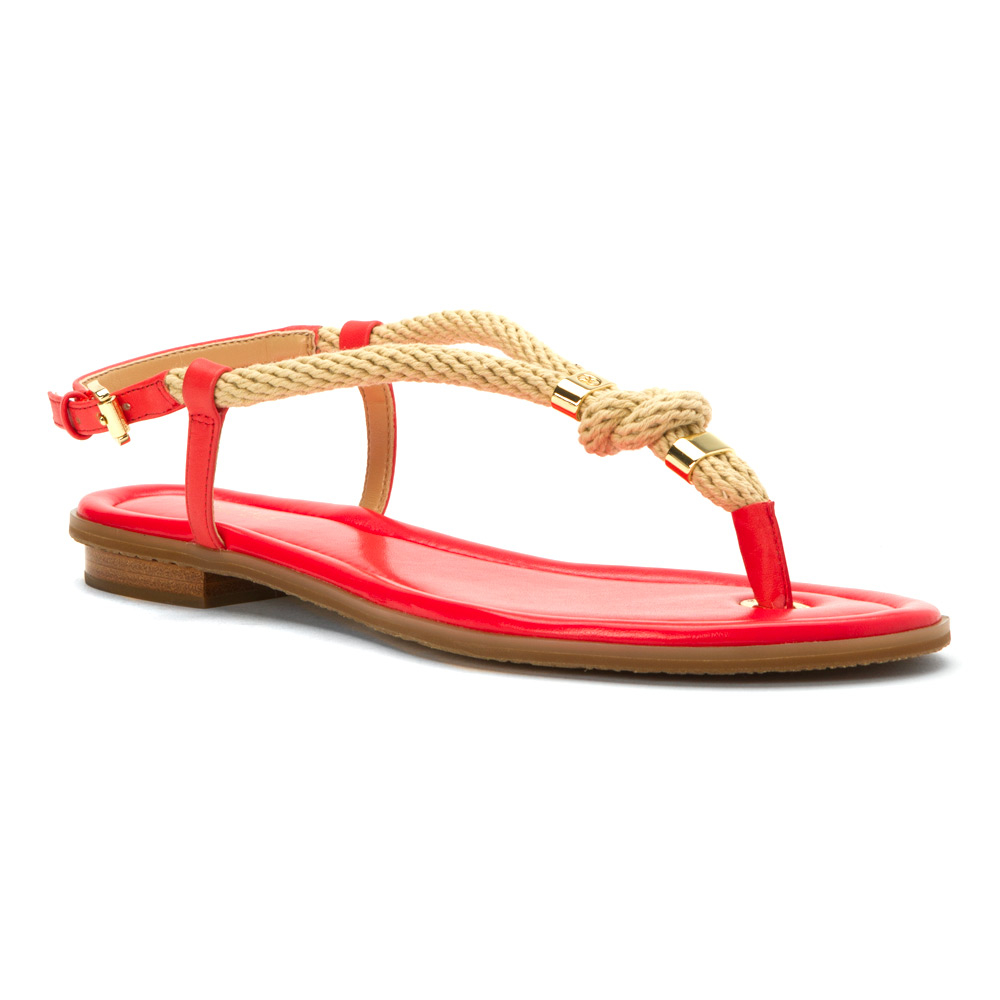 Lyst Michael Michael Kors Holly Sandal In Red