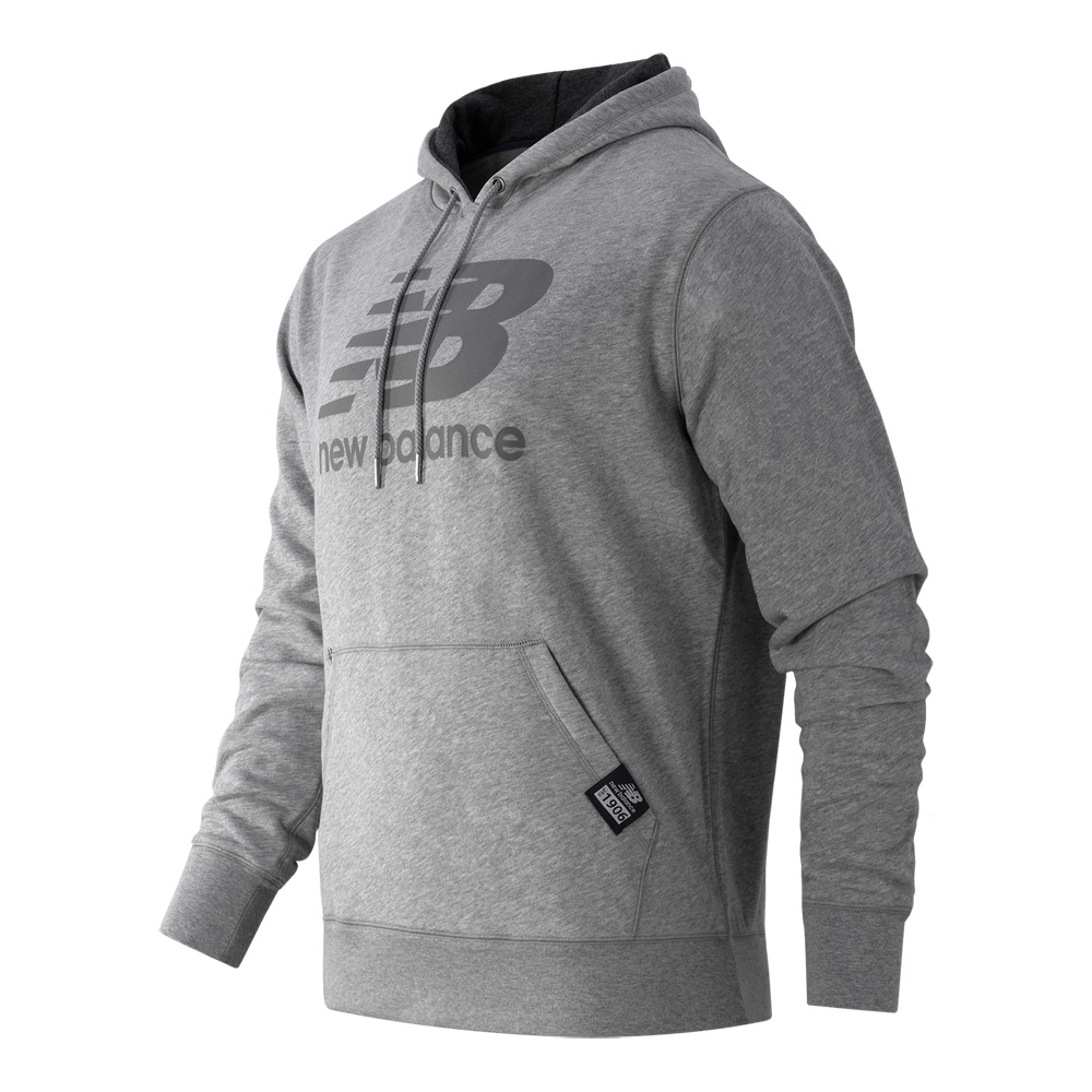 new balance pullover hoodie in gray for men lyst. Black Bedroom Furniture Sets. Home Design Ideas