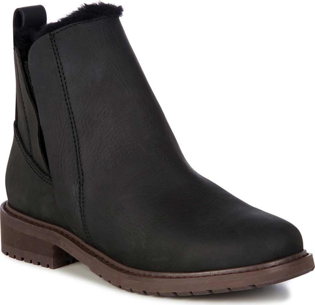 EMU Pioneer Leather Waterproof Bootie in Black