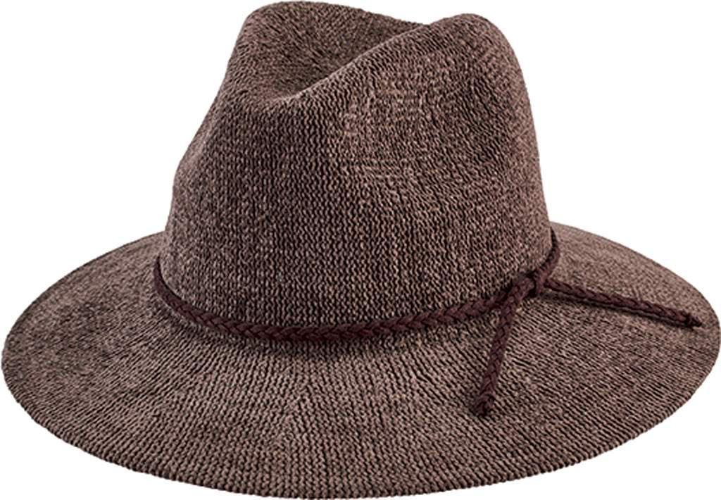 Lyst - San Diego Hat Company Knit Fedora With Braided Faux Suede ... db29189e5503
