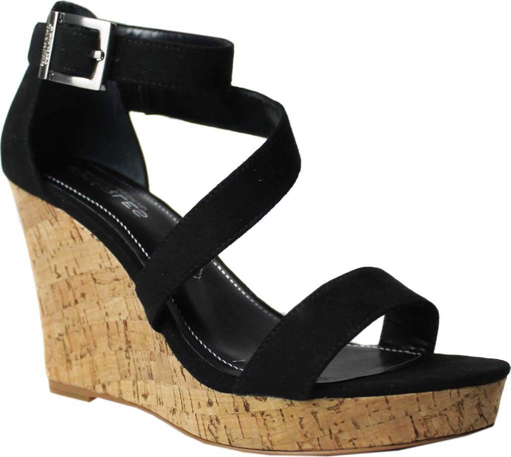 Big Sale Charles by Charles David Leanna Platform Wedge Sandal Women Black Microsuede