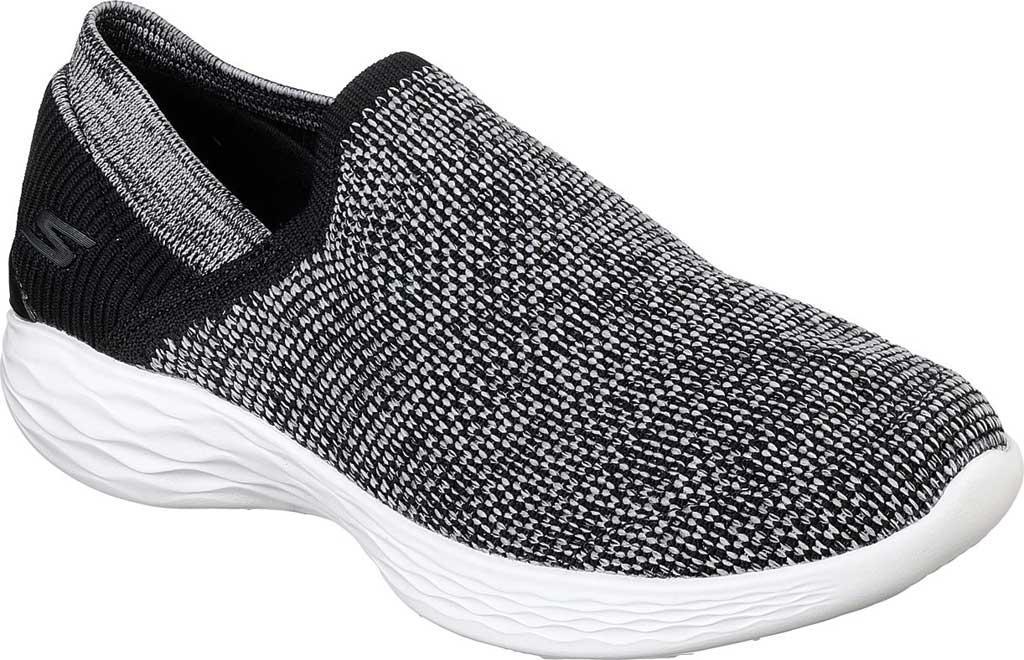 Skechers YOU Women's Slip-On Sneakers Black White NEW