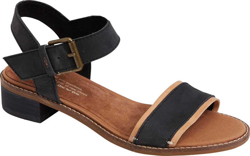 d8d44f10728 TOMS - Black Camilia Ankle Strap Sandal - Lyst. View fullscreen