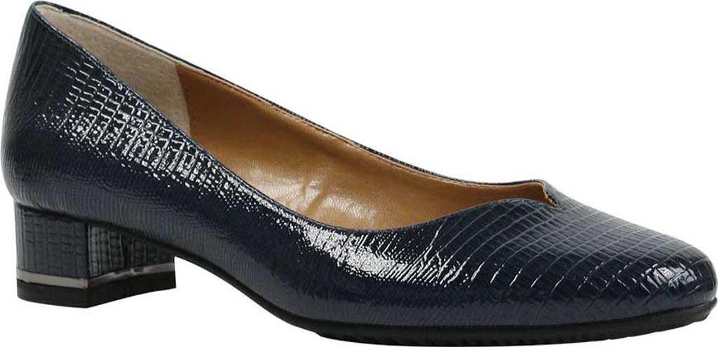 J. Reneé. Women's Blue Bambalina Low Block Heel Pump