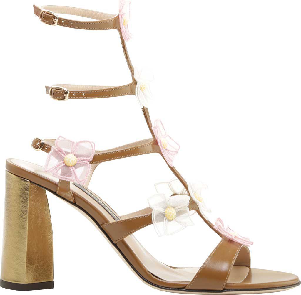 Zac Posen Claire Organza Flower Leather Heeled Sandal (Women's) Nskg0VhXi