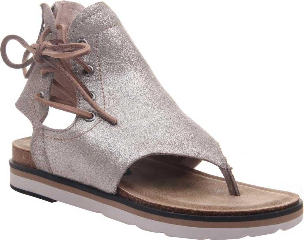 1aa77dd97096 Lyst - Otbt Locate Metallic Leather Thong Sandals in Metallic - Save 1%