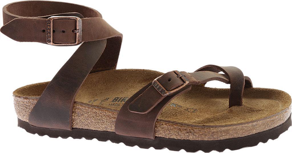 1ba39d32e Birkenstock Yara Oil Leather Toe Loop Sandal in Brown - Save 21% - Lyst