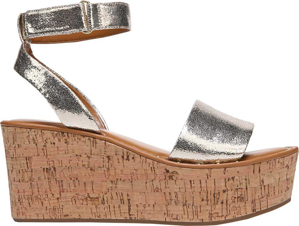 91a440598e41 Lyst - Franco Sarto Jovie Platform Wedge Sandal in Metallic
