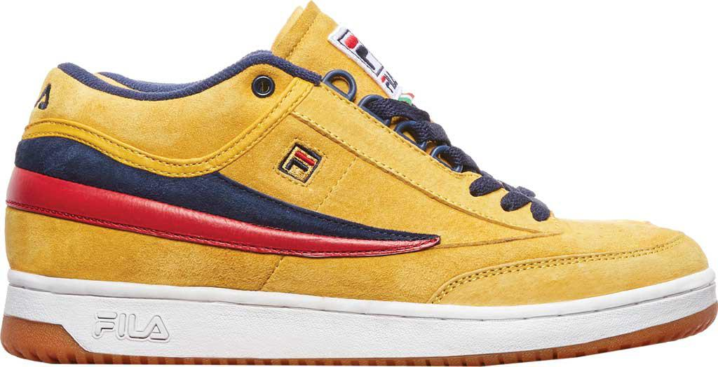 Fila Leather T1-mid in Yellow for Men