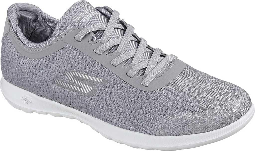 Skechers. Women's Gray Gowalk Lite Savvy Walking Shoe