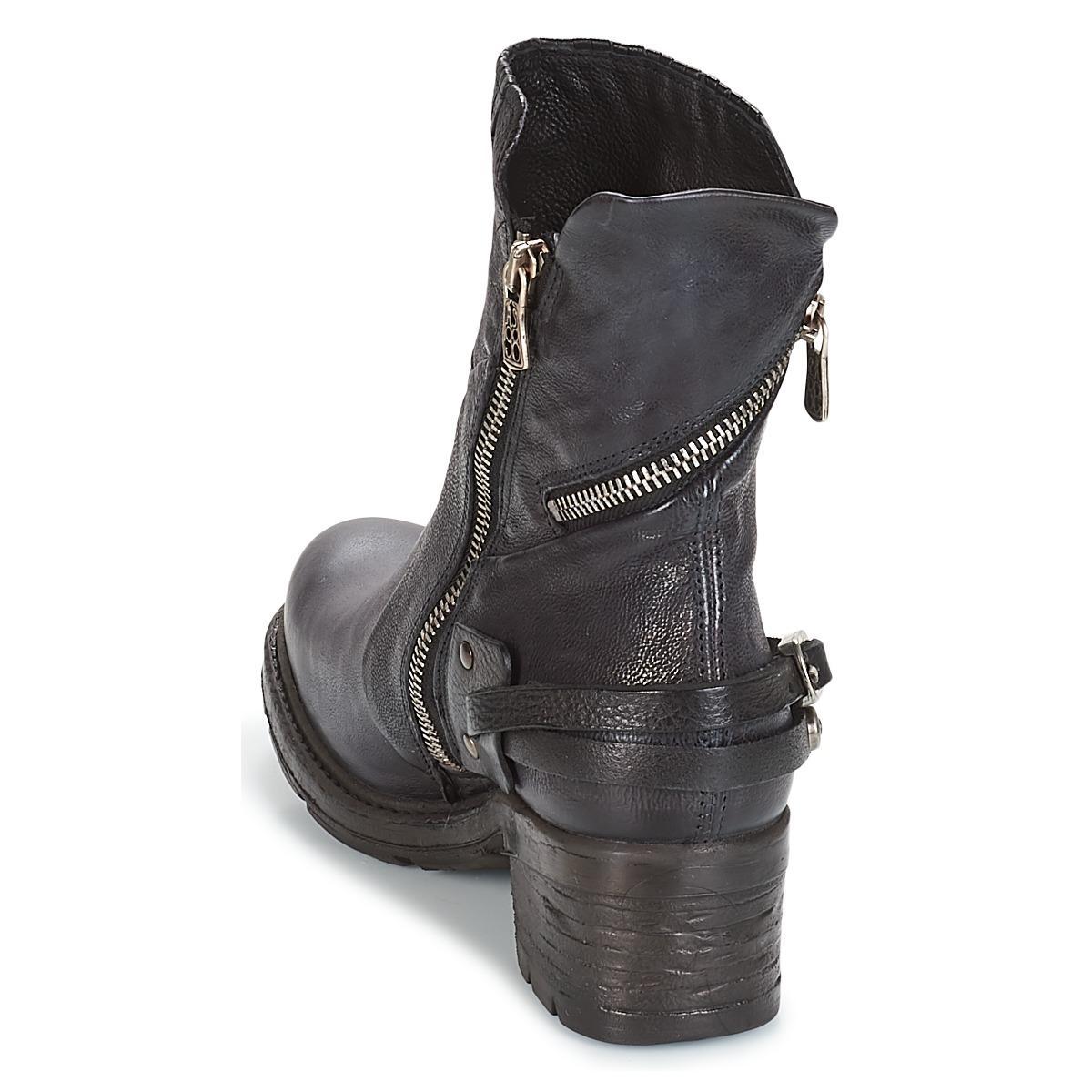 NOVA 17 Boots Cuir A.s.98 en coloris Bleu - 15 % de réduction