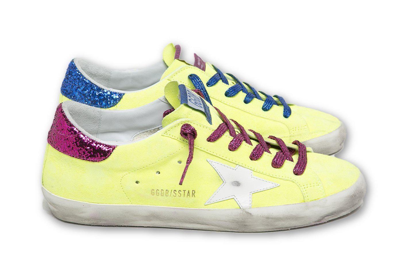 Golden Goose Goose Superstar Yellow Fluo Sneakers - Lyst