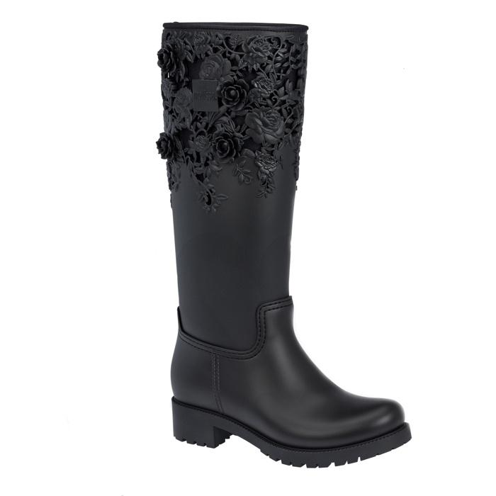 0296886b1820 Lyst - Melissa Flower Boot High in Black