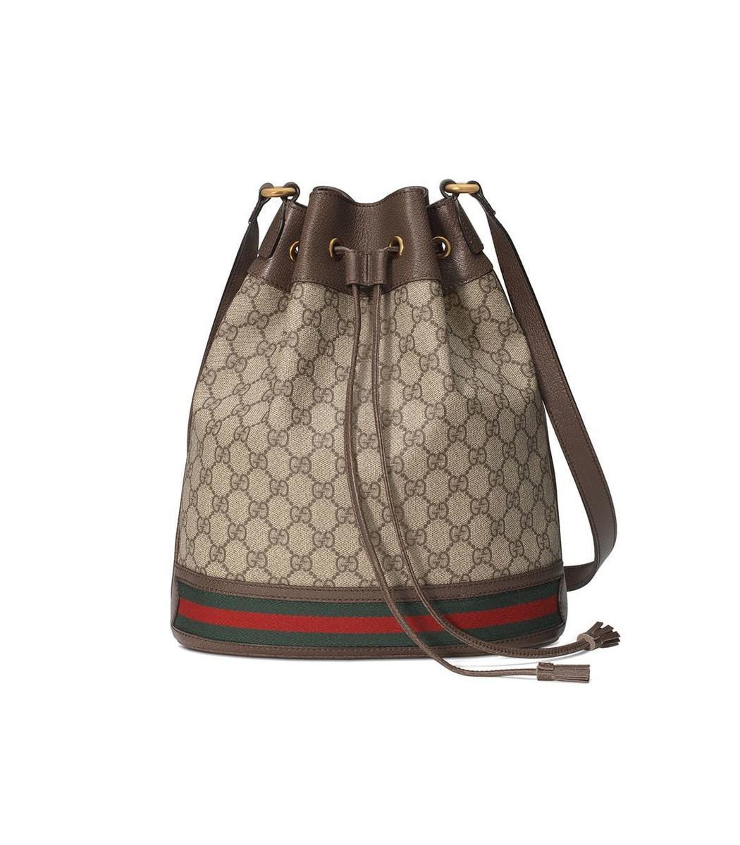 3fc0679efe45 Gucci. Women s Neutral Ophidia GG Bucket Bag