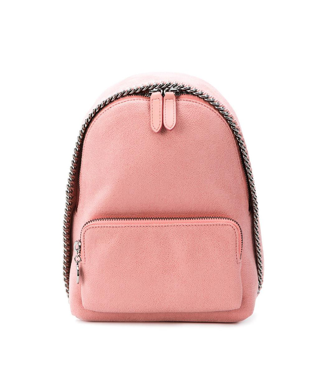 a91adee1e8f1 Lyst - Stella Mccartney Pink Mini Falabella Backpack Bag in Pink