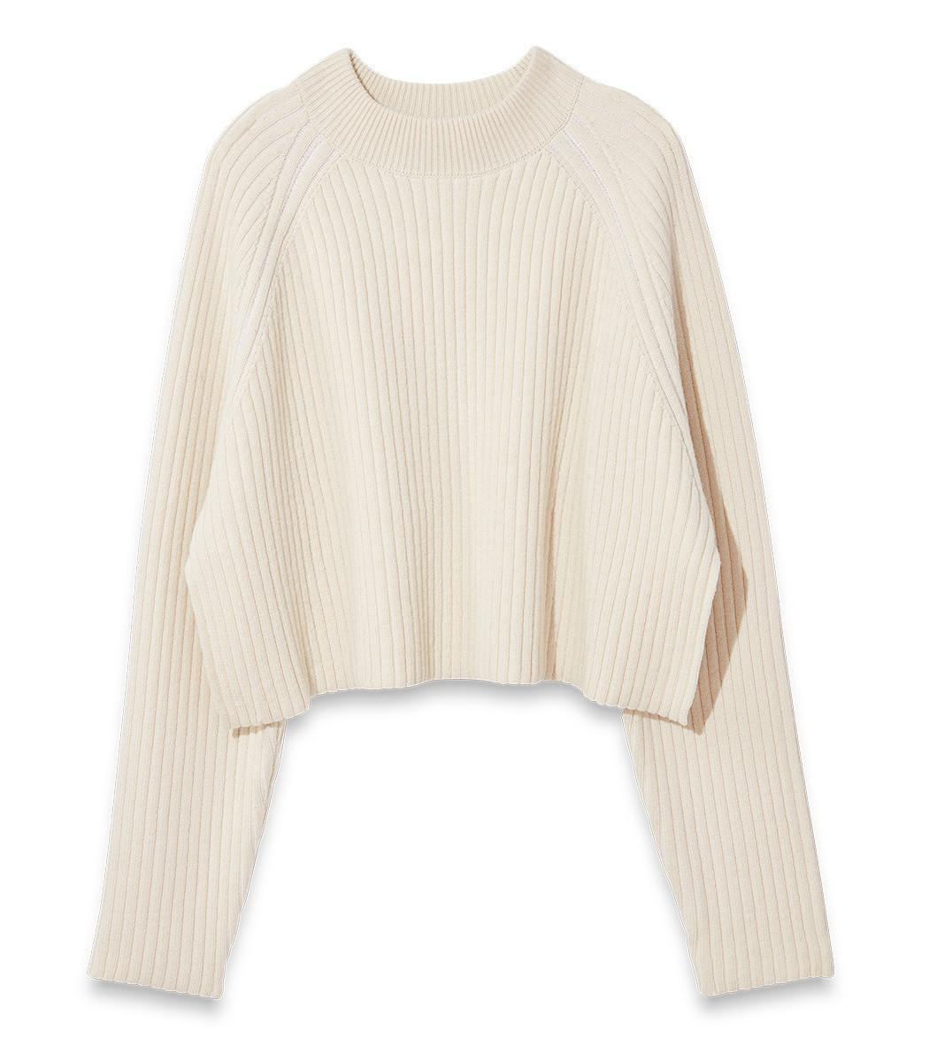 55956eed51ece Lyst - Proenza Schouler Cropped Crewneck Sweater in White