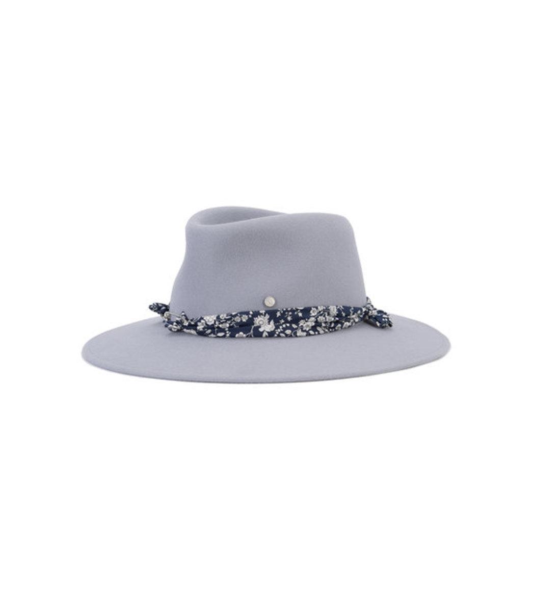 Lyst - Maison Michel Grey  pierre  Floral Band Hat in Gray 85435de8e672