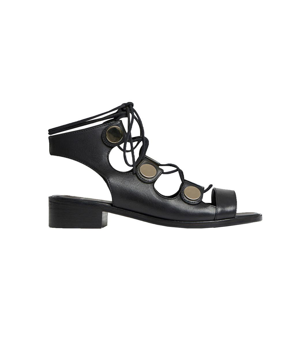 3e9082a42d69d4 Lyst - Pierre Hardy Black Penny 30 Mm Sandal in Black