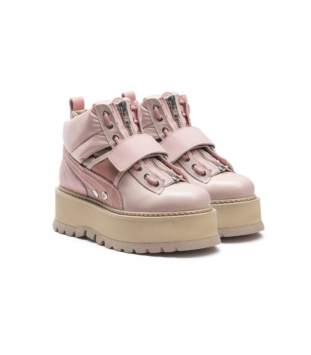 reputable site 5e0da 19f71 Women's Pink 'fenty X By Rihanna' Sneaker Boots