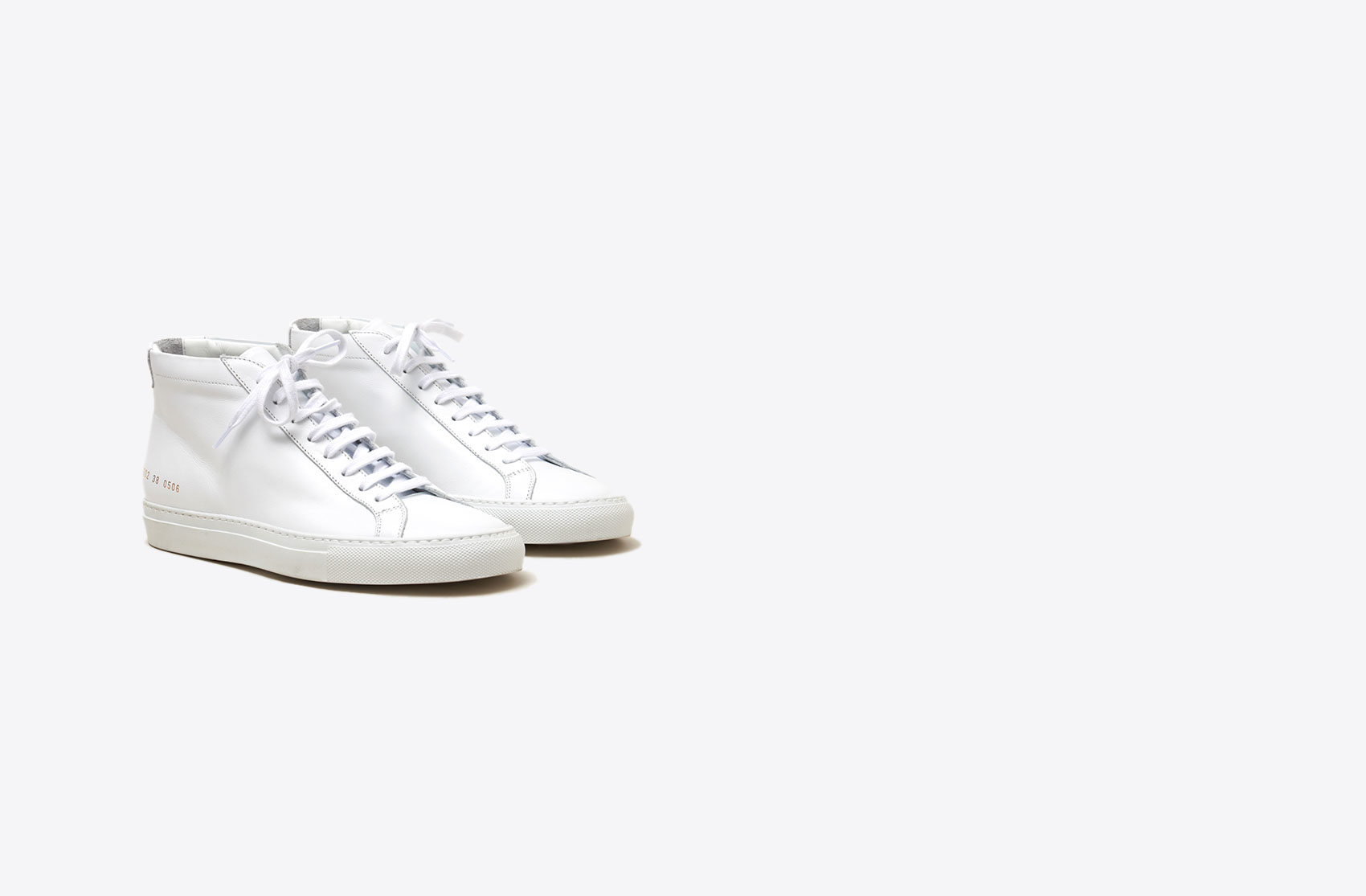 common projects original achilles mid sneakers in white lyst. Black Bedroom Furniture Sets. Home Design Ideas