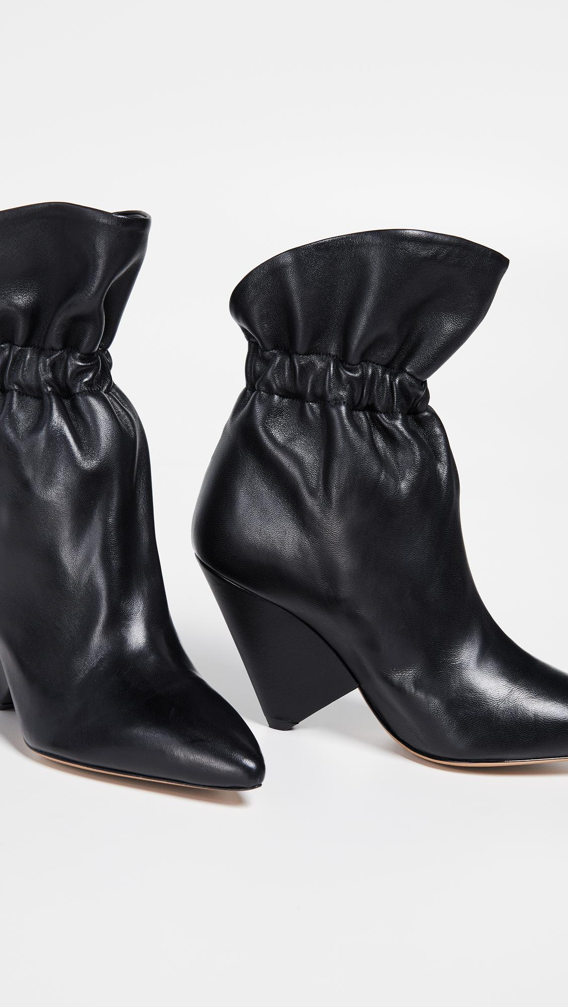 Isabel Marant Leather Lileas Boots in Black