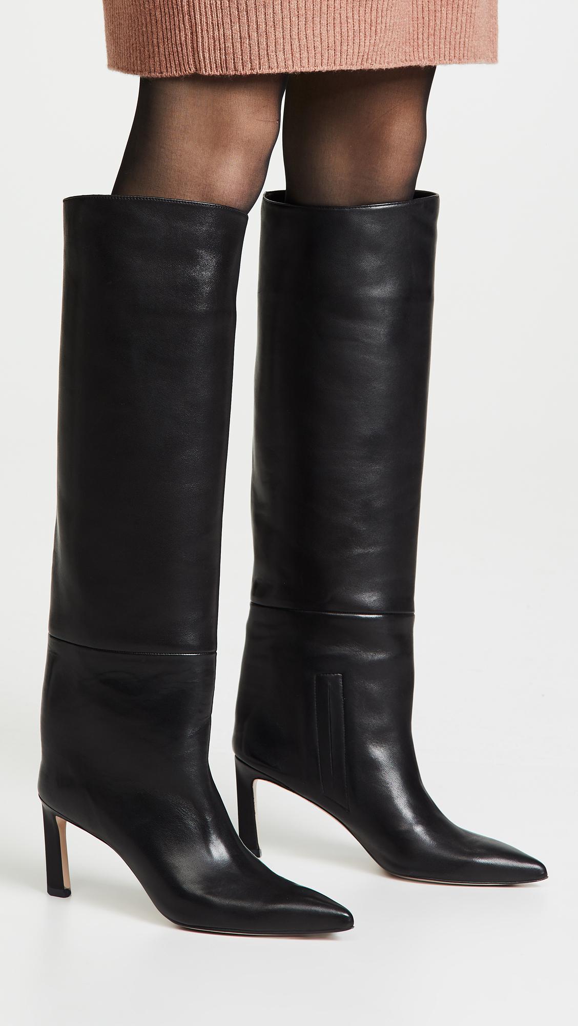 29128f5aeb2 Stuart Weitzman - Black Emiline Boots - Lyst. View fullscreen