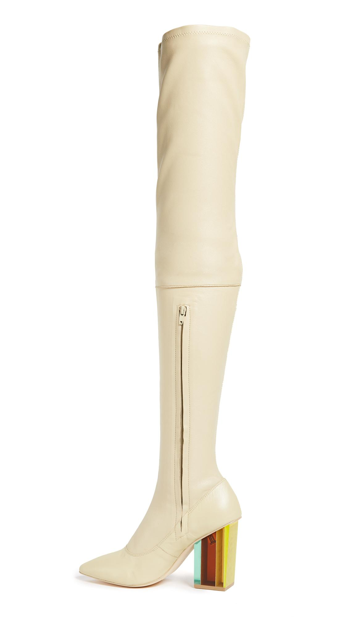 Zimmermann Synthetic Strech Thigh High Boots in Natural