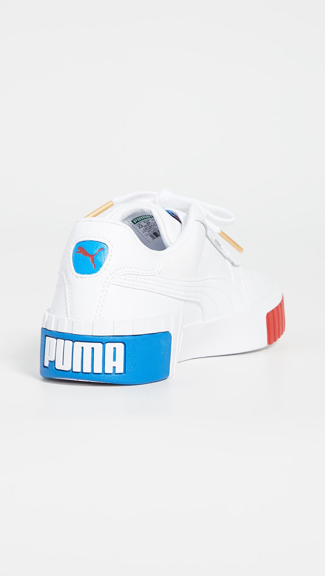 PUMA Leather Cali Rwb Sneakers in Blue