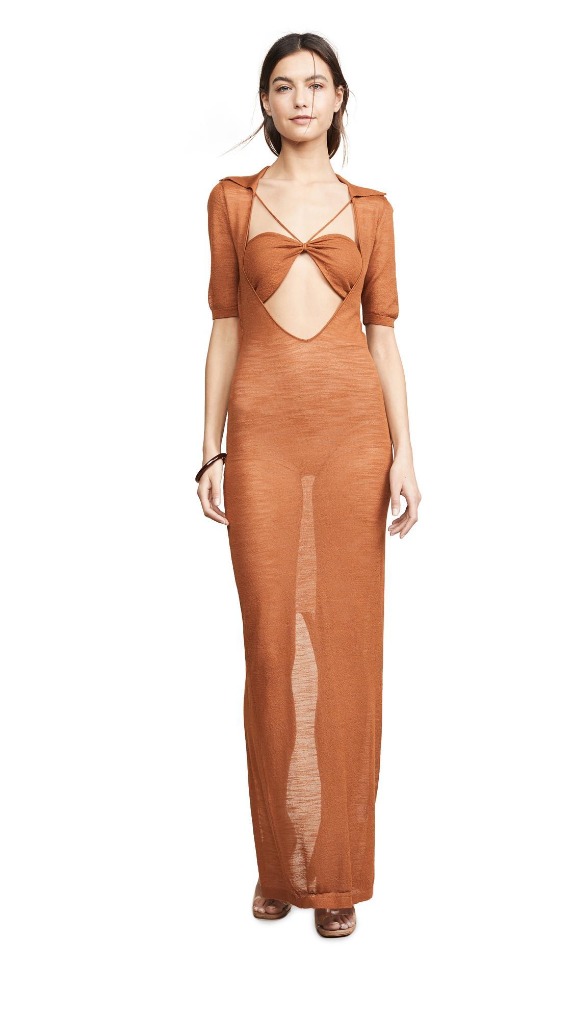 Jacquemus - Multicolor Long Piana Dress - Lyst. View fullscreen 92228a15b
