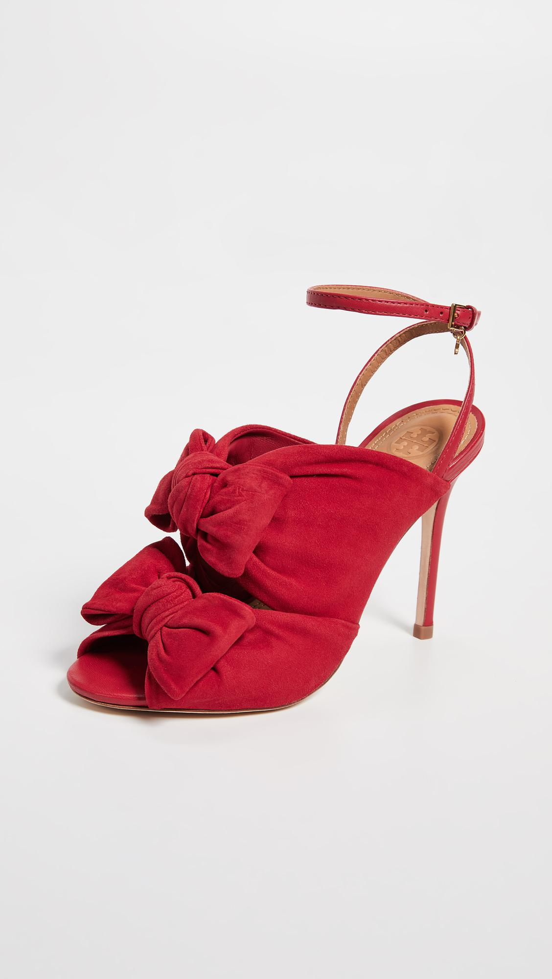 40b1cdab429 Lyst - Tory Burch Eleanor 105mm Sandals in Red