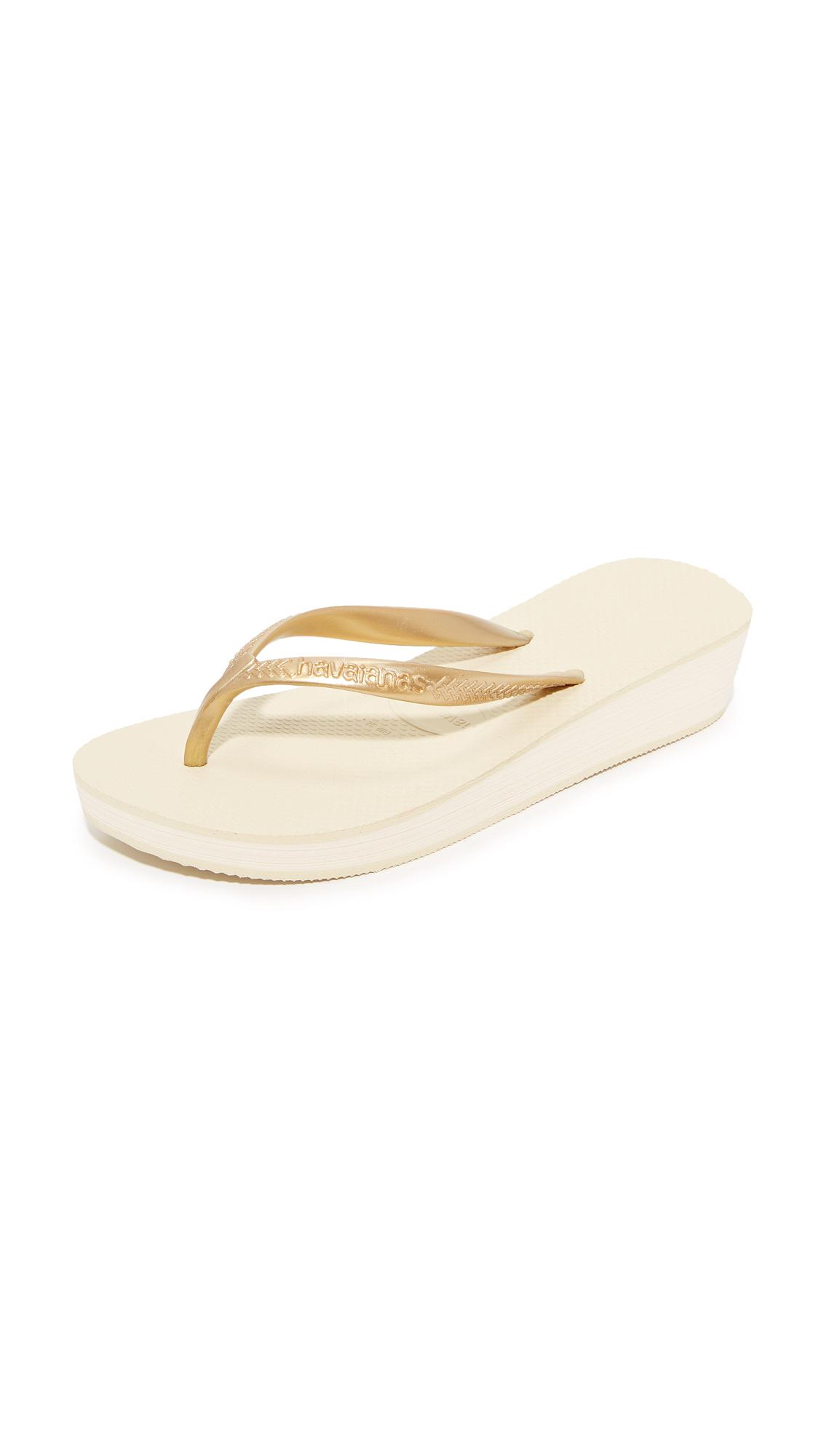 Havaianas High Light Wedge Flip Flop In Natural  Lyst-7691