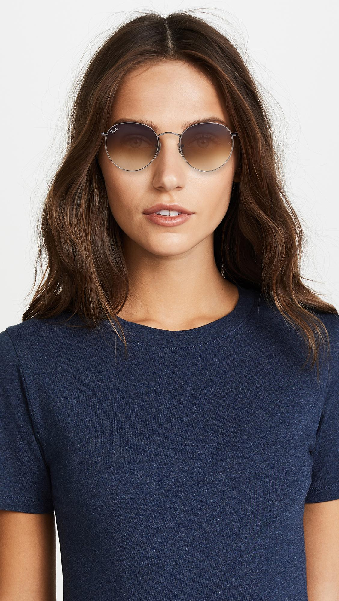 Ray-Ban Rb3447n Round Gradient Sunglasses