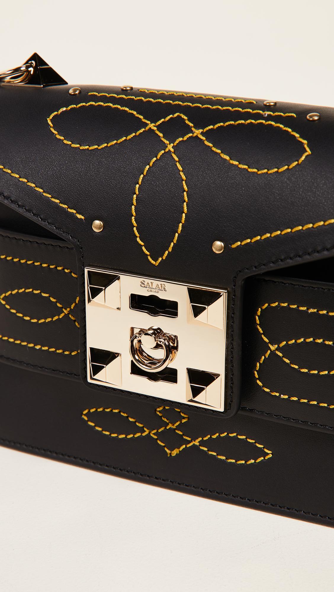 Salar Leather Black Mila Stitch