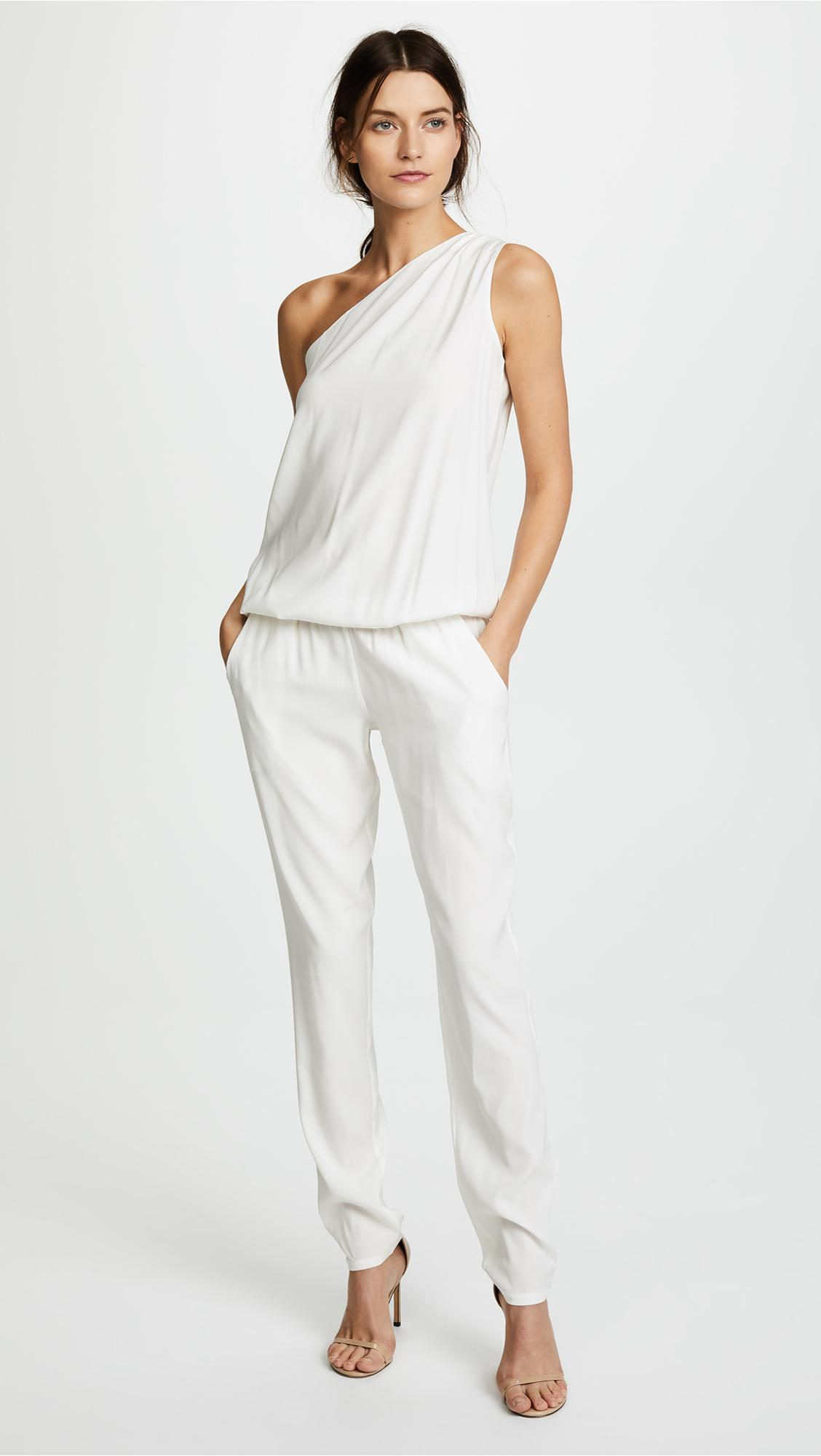 4a7eaf32898e Ramy Brook Lulu One Shoulder Jumpsuit in White - Save 14% - Lyst