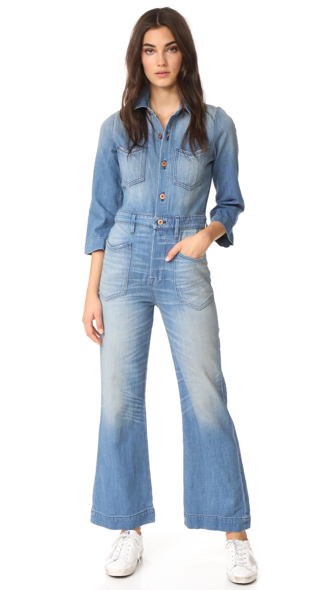 414e8afb8f Lyst - NSF Charley Jumpsuit in Blue