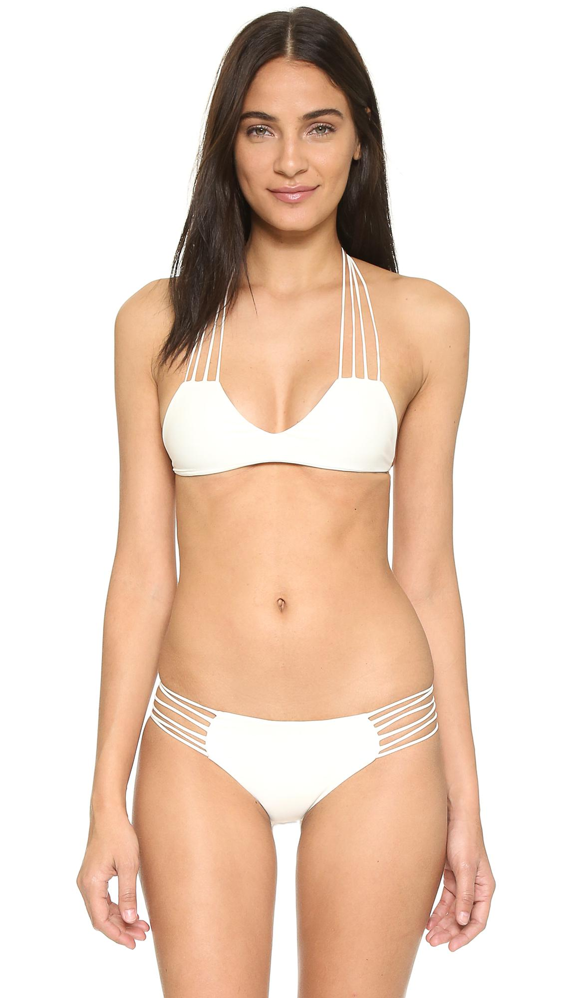 Mikoh swimwear Banyans String Racer Back Top in White
